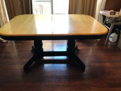 Solid wood, hand made in Canada, dining table