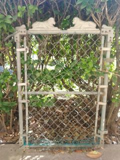 Vintage antique allied co. Fence gate with sphinx