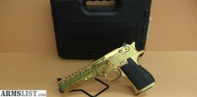 For Sale: Desert Eagle Titanium Gold w/ Tiger Stripes .50AE