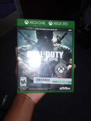Call of duty black ops for Xbox one and Xbox 360