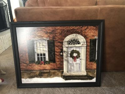 Gorgeous Christmas Picture. 36 X 28 . No Glass.