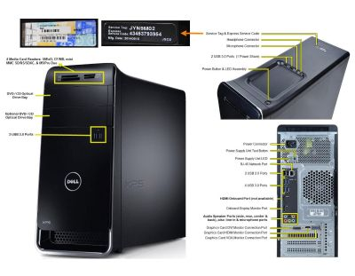Dell XPS-8700 Computer Workstation