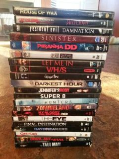 Horror Movie lot of 21 dvds