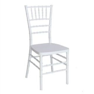 White Resin Chiavari Chair by Folding Tables and Chairs
