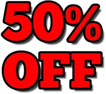 50% off all the clothes that I have listed!!