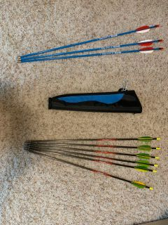 Archery Arrows and holder