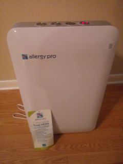 Allergy Pro purifier, with true HEPA filtration