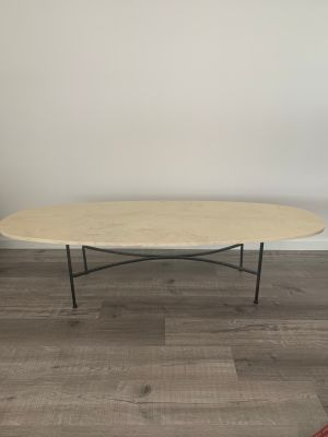 Vintage resin top surfboard coffee table