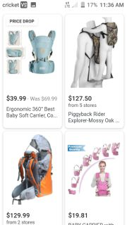 Looking for a toddler carrier