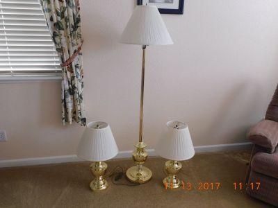 Brass Lamp Set