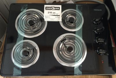 "Frigidaire 30"" Electric Cook Top in Black"