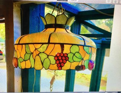Antique Stained Glass ceiling fixtures