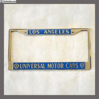 LA Universal VW Porsche Dealer License Plate Frame