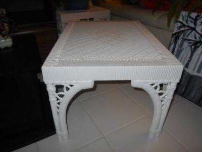 Rectangular White Plastic Tab;e