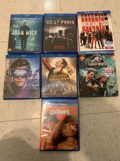Blue rays $5 ea. never been inside a player