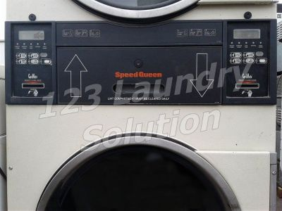 Good Condition Speed Queen Commercial Stack Dryer Card Reader 30LB ST0300DRGZ​RL001 Almond Used