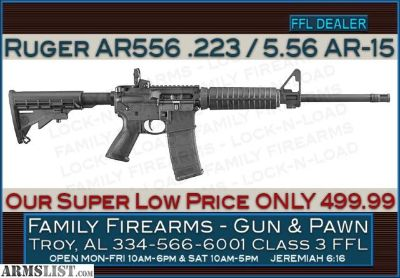 For Sale: Ruger 8500 AR556 AR-15 .223/5.56 at ONLY 499.99