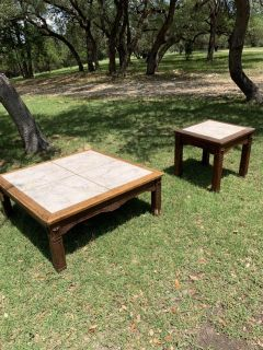 Rustic Coffee table and side table