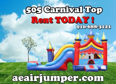 Carnival Top Bounce House Combo - All DAy Rental