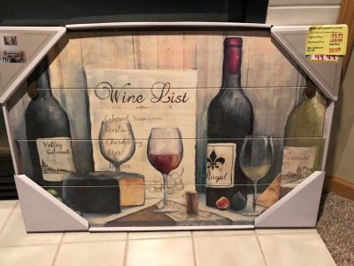 Wine wall frame