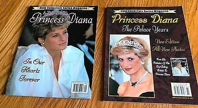 Lot of 2 A Tribute to Princess Diana-The Palace Years Gold Collectors Series Magazines