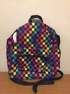 New Yak Pak multi colored heavy duty backpack with lifetime warranty