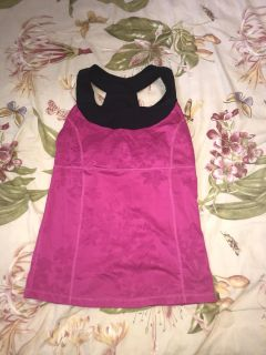 Xersion women s active top workout size small excellent condition (look at the cute back)