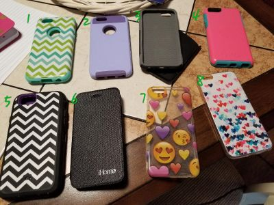 iPhone 6 cases $5 each or $30 for all