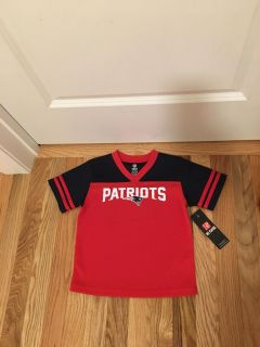 Patriots Shirts. Very nice material. Size 4t. Brand New with Tags