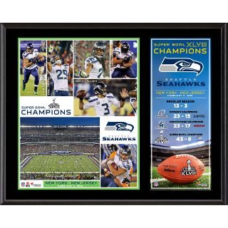 "SEATTLE SEAHAWKS XLVIII Commemoritive 12""x 15"" Plaque - NEW"