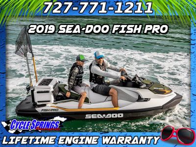2019 Sea-Doo Fish Pro IBR 3 Person Watercraft Clearwater, FL