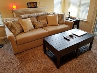 Sofa, Coffee Table, Side Table, and TV Stand