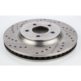 Purchase JEGS Performance Products 632141 HP Drilled & Slotted Brake Rotor motorcycle in Delaware, Ohio, United States, for US $80.99
