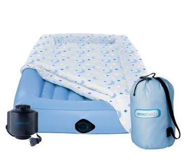 LIKE NEW Toddler Aerobed w/cover, blower & travel bag. Used once. County Line/ Walnut Ave. area. POMS Paid just under $100 retail-asking $60
