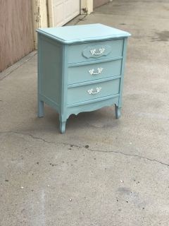 Side table/ night stand (light blue) delivery available