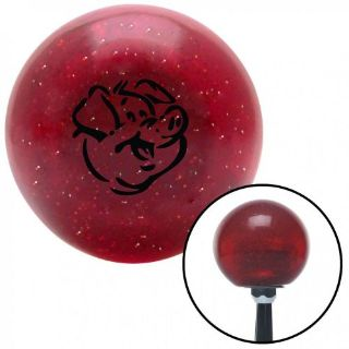 Buy Black Pig Red Metal Flake Shift Knob with 16mm x 1.5 Insertgrip style rack motorcycle in Portland, Oregon, United States, for US $29.97