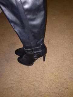 Leather boots- above the knee