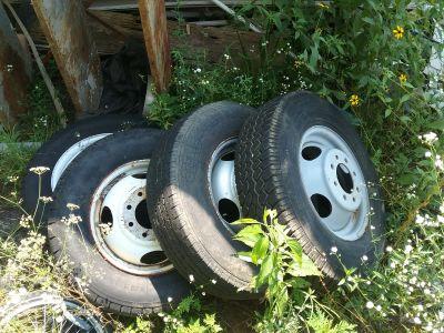 84 Chevy van RV dually wheels