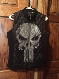 Hand painted Punisher vest boys size 14/16