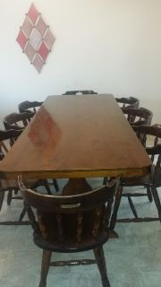 Beautiful Large Dining Table with 8 Chairs