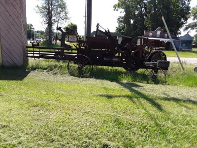 antique haybaler