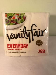 Vanity Fair every day casual dinner napkins, 100 count
