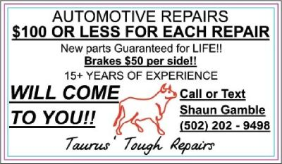 Automotive Repairs $100 OR LESS-WILL COME TO YOU!!!