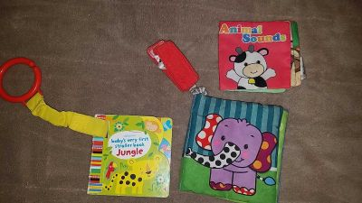 Lot of baby toy books