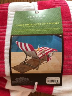 Lounge Chair Cover with pocket. New.
