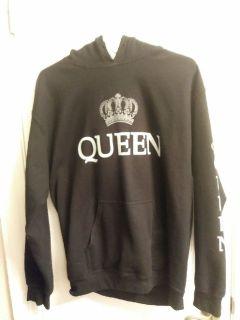 Ladies Black Sweatshirt / Hoodie  Medium, Long Sleeve
