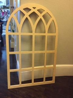 Cathedral arch window pane decor