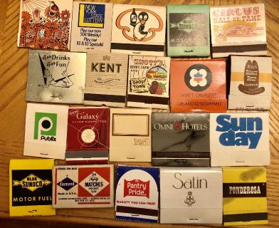Vintage Miscellaneous Matchbooks Never Used