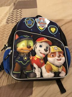 BNWT Paw Patrol Standard Sized Backpack