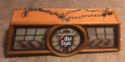 VTG 1980s OLD STYLE BEER HANGING POOL TABLE LIGHT